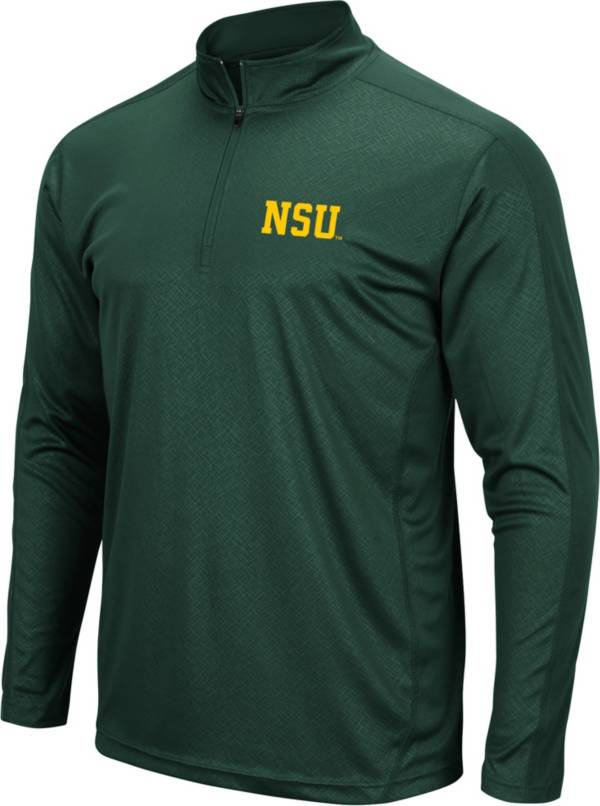 Colosseum Men's Norfolk State Spartans Green Quarter-Zip Pullover product image
