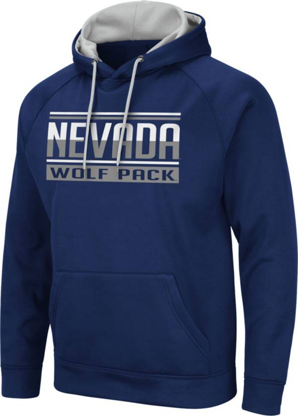 Colosseum Men's Nevada Wolf Pack Blue Pullover Hoodie product image