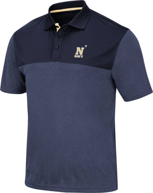 Colosseum Men's Navy Midshipmen Navy Links Polo product image