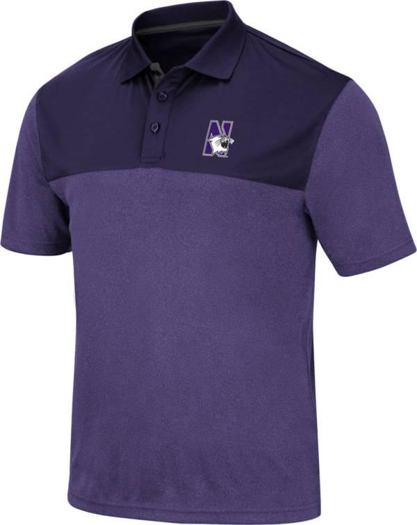 Colosseum Men's Northwestern Wildcats Purple Links Polo product image