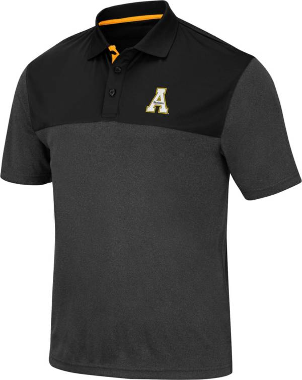 Colosseum Men's Appalachian State Mountaineers Links Black Polo product image