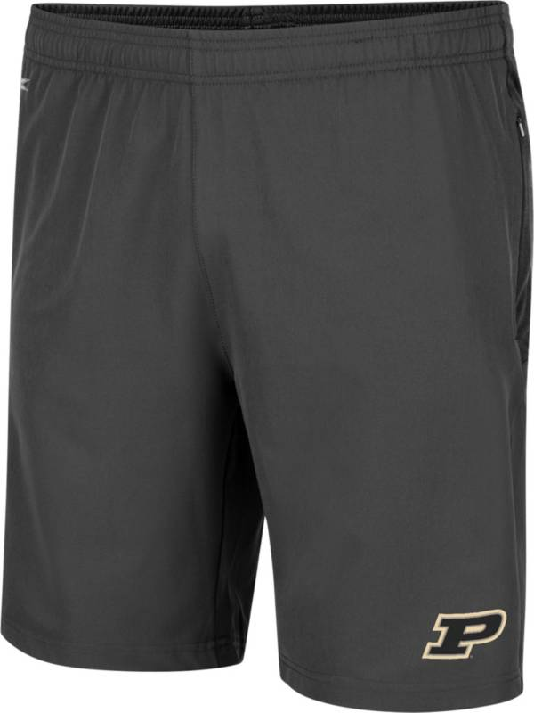 Colosseum Men's Purdue Boilermakers Grey Jean-Ralphio Shorts product image