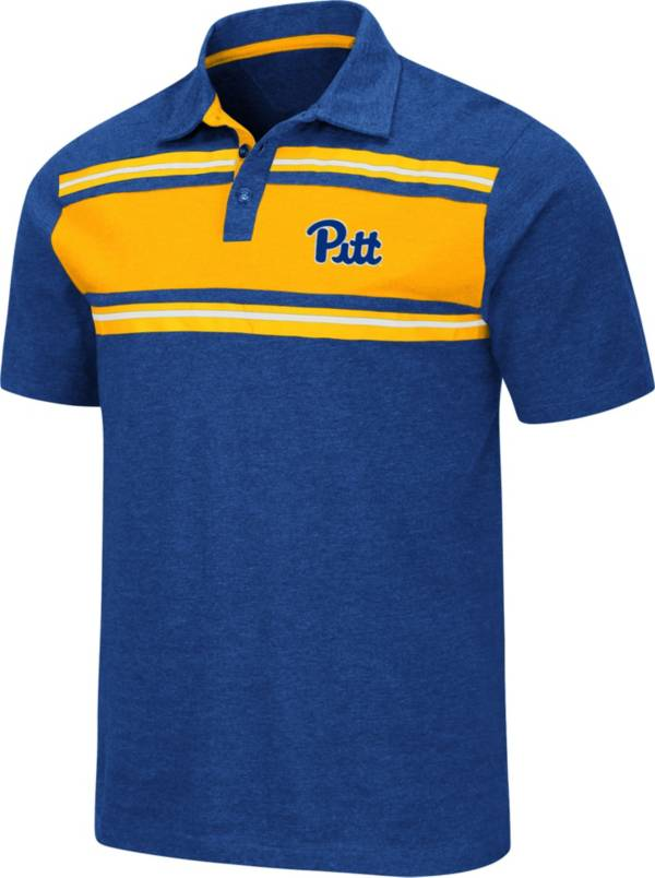 Colosseum Men's Pitt Panthers Blue Doppelganger Polo product image