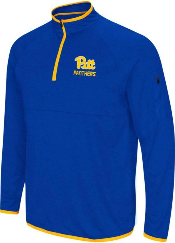 Colosseum Men's Pitt Panthers Blue Rival Quarter-Zip Shirt product image