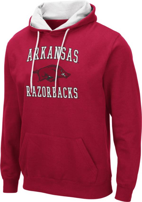 Colosseum Men's Arkansas Razorbacks Cardinal Pullover Hoodie product image