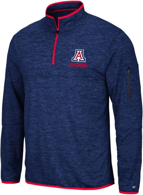 Colosseum Men's Arizona Wildcats Navy Slub Quarter-Zip Shirt product image