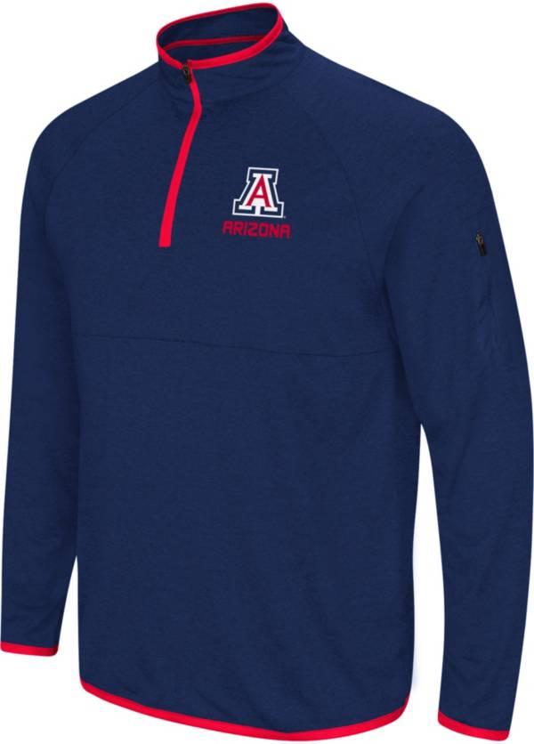 Colosseum Men's Arizona Wildcats Navy Rival Quarter-Zip Shirt product image