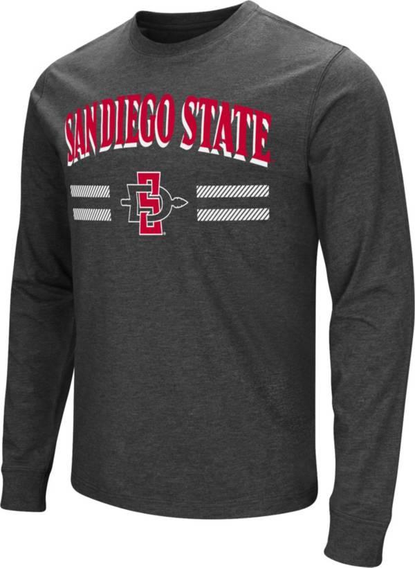 Colosseum Men's San Diego State Aztecs Dual Blend Long-Sleeve Black T-Shirt product image