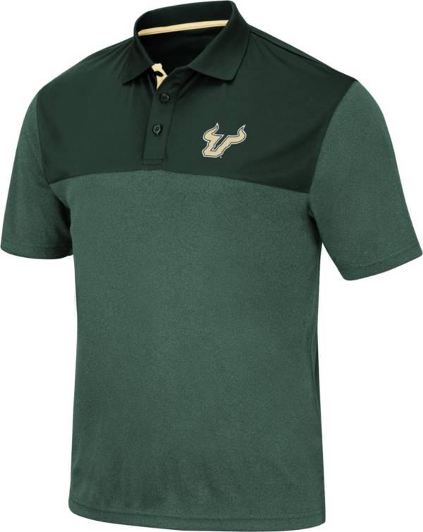 Colosseum Men's South Florida Bulls Green Links Polo product image