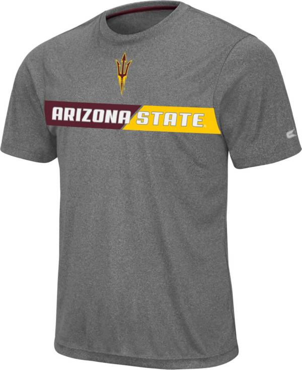Colosseum Men's Arizona State Sun Devils Grey Bait T-Shirt product image