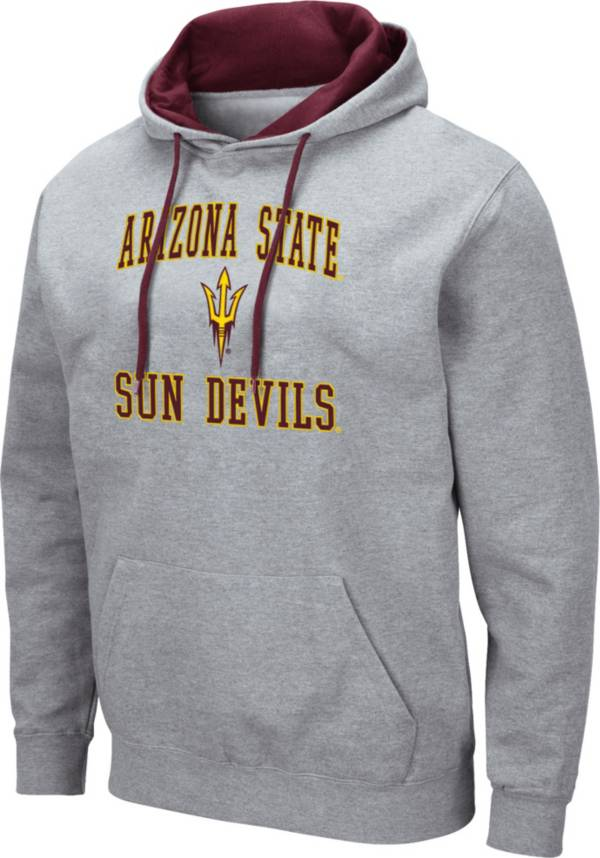 Colosseum Men's Arizona State Sun Devils Grey Pullover Hoodie product image