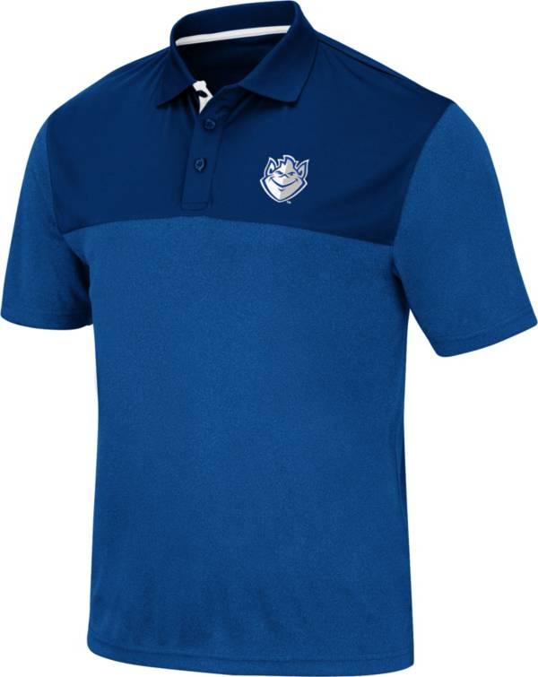 Colosseum Men's Saint Louis Billikens Blue Links Polo product image