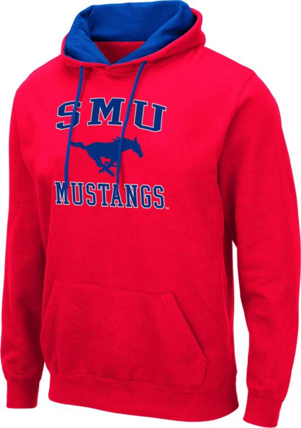 Colosseum Men's Southern Methodist Mustangs Red Pullover Hoodie product image