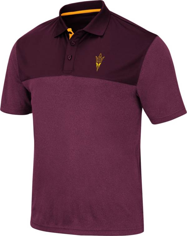 Colosseum Men's Arizona State Sun Devils Maroon Links Polo product image