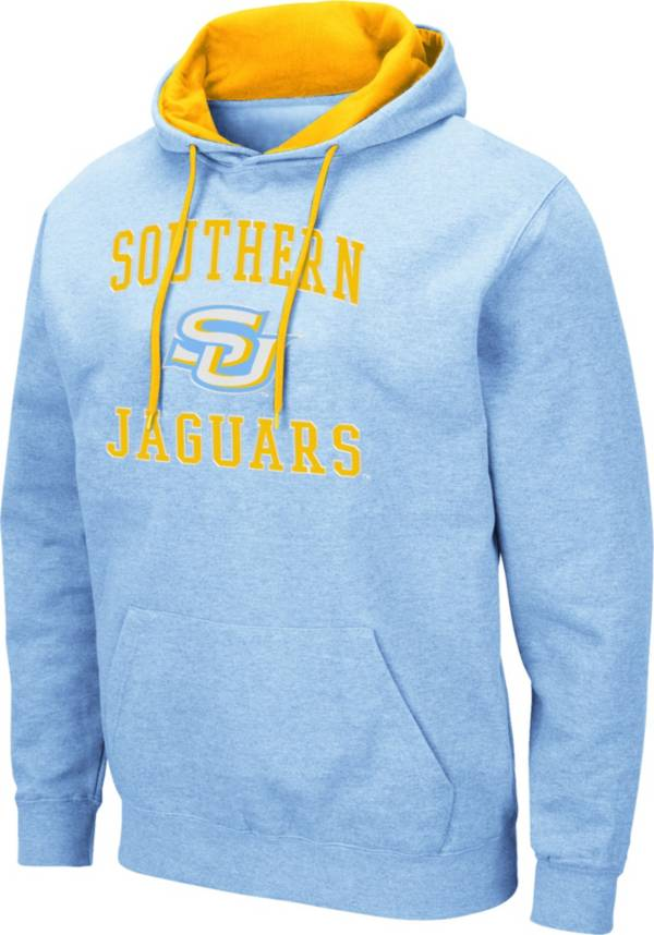 Colosseum Men's Southern University Jaguars Columbia Blue Pullover Hoodie product image
