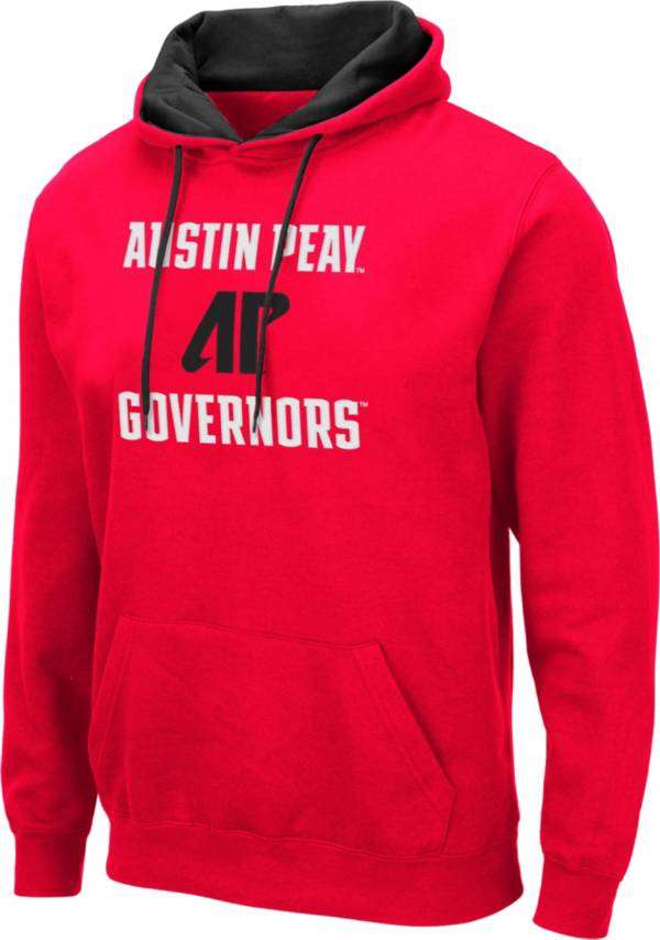 Colosseum Men's Austin Peay Governors Red Pullover Hoodie product image