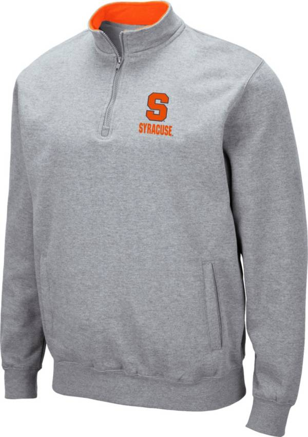 Colosseum Men's Syracuse Orange Grey Fleece Quarter-Zip Shirt product image