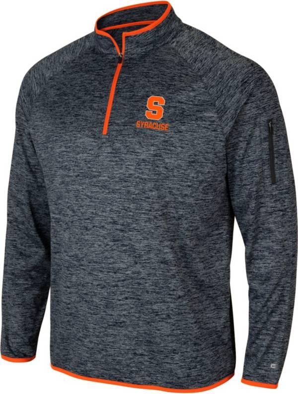 Colosseum Men's Syracuse Orange Grey Indus River Quarter-Zip Shirt product image