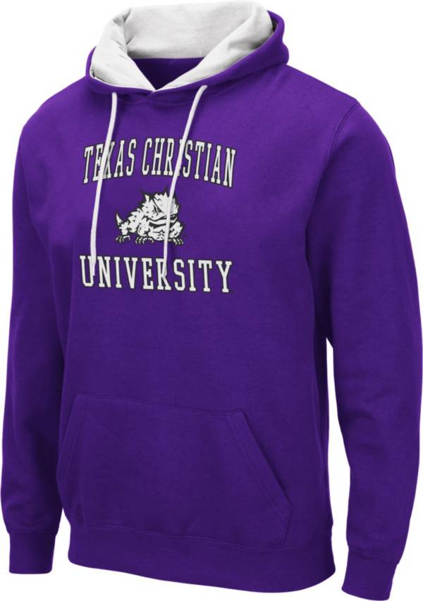 Colosseum Men's TCU Horned Frogs Purple Pullover Hoodie product image