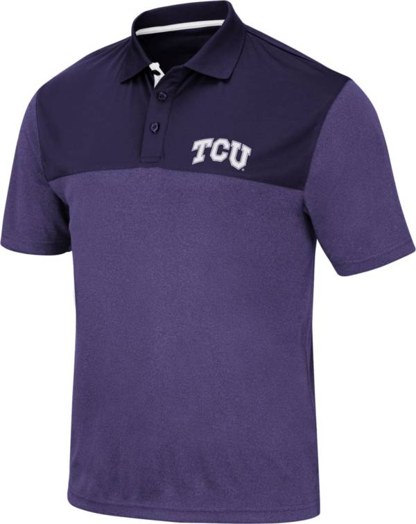 Colosseum Men's TCU Horned Frogs Purple Links Polo product image