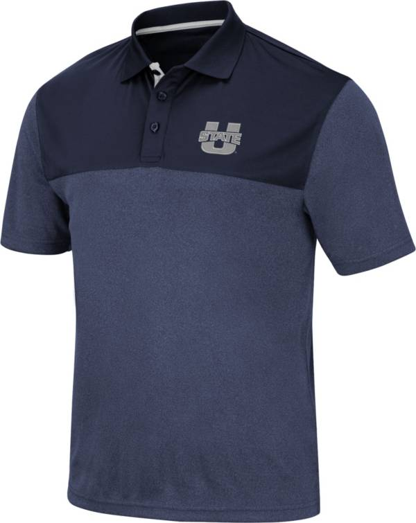 Colosseum Men's Utah State Aggies Blue Links Polo product image