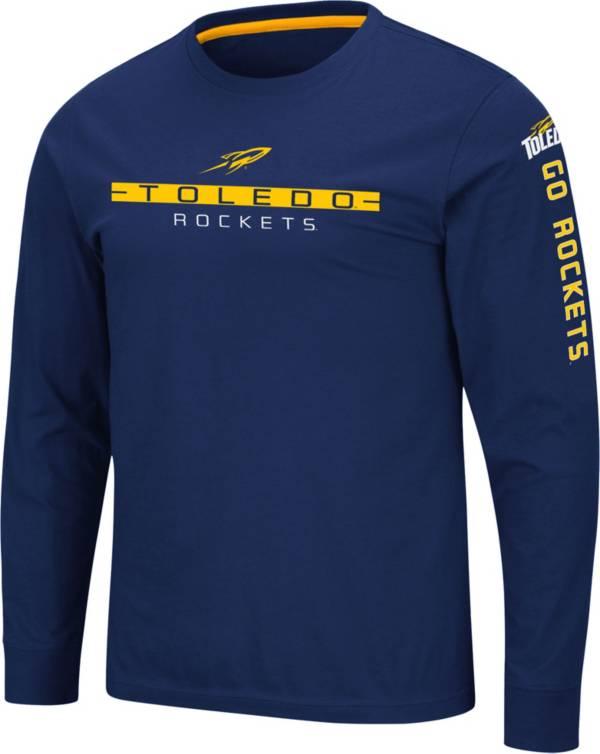 Colosseum Men's Toledo Rockets Midnight Blue Blitzgiving Long Sleeve T-Shirt product image