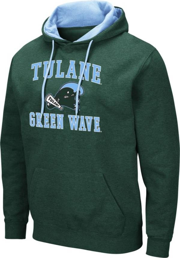 Colosseum Men's Tulane Green Wave Olive Pullover Hoodie product image