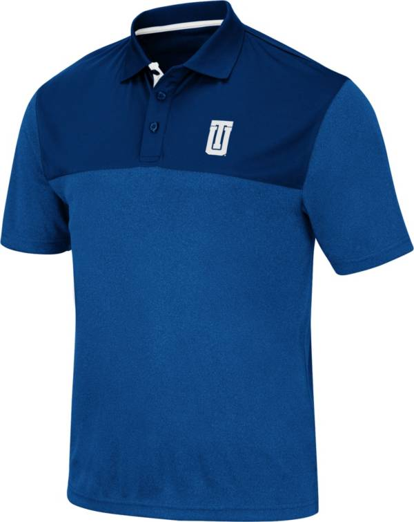 Colosseum Men's Tulsa Golden Hurricane Blue Links Polo product image