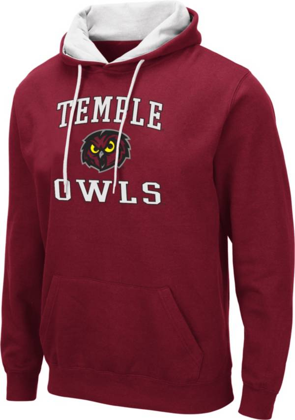 Colosseum Men's Temple Owls Cherry Pullover Hoodie product image