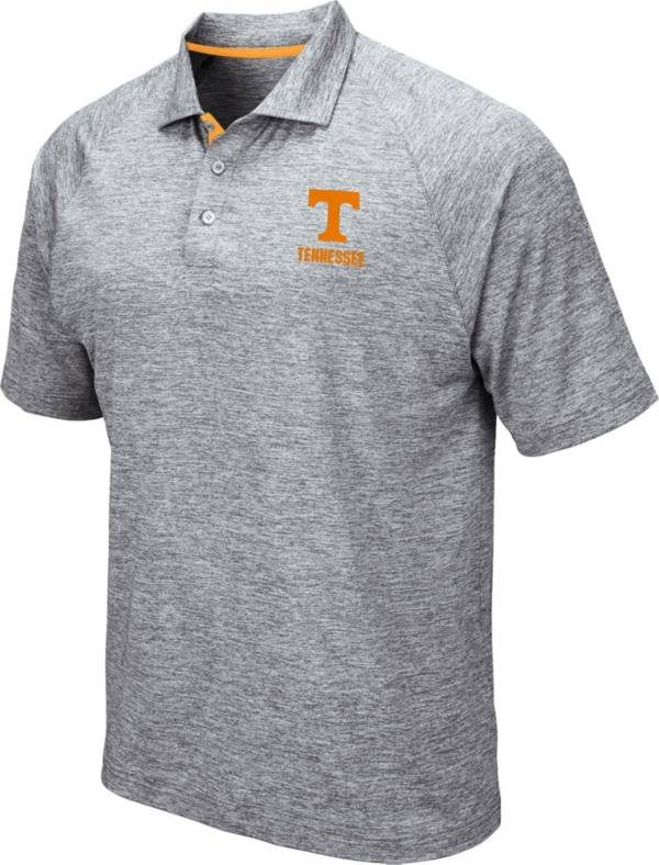 Colosseum Men's Tennessee Volunteers Grey Wedge Polo product image