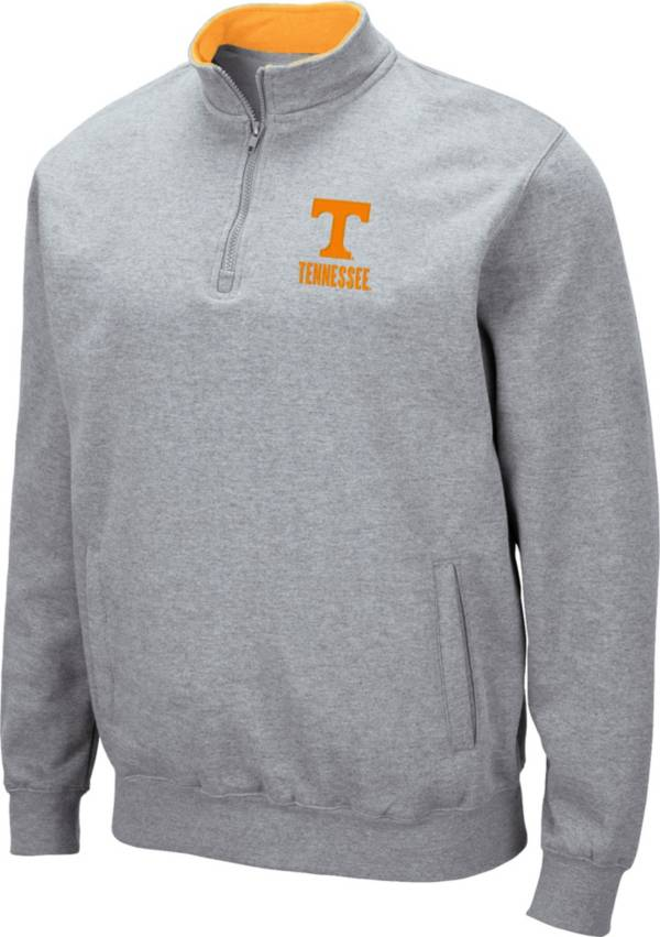 Colosseum Men's Tennessee Volunteers Grey Fleece Quarter-Zip Shirt product image