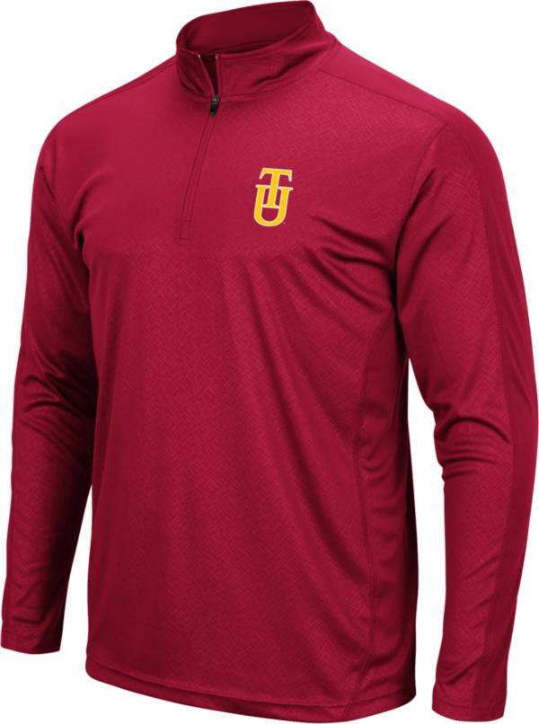 Colosseum Men's Tuskegee Golden Tigers Red Quarter-Zip Pullover product image