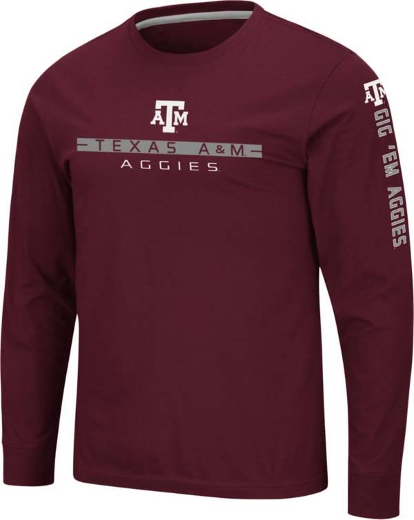 Colosseum Men's Texas A&M Aggies Maroon Blitzgiving Long Sleeve T-Shirt product image
