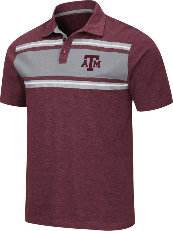 Colosseum Men's Texas A&M Aggies Maroon Doppelganger Polo product image