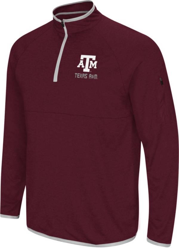 Colosseum Men's Texas A&M Aggies Maroon Rival Quarter-Zip Shirt product image