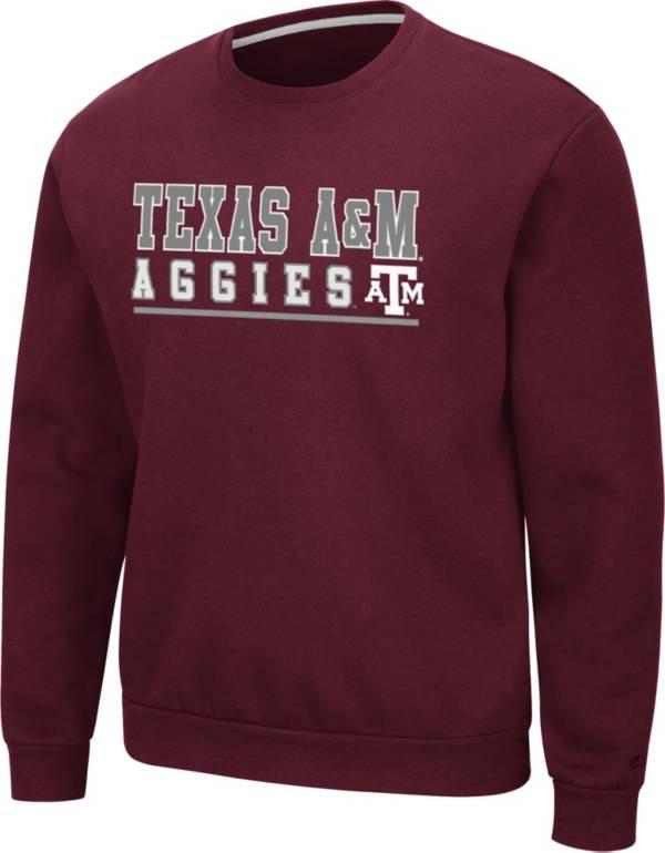 Colosseum Men's Texas A&M Aggies Maroon Rally Crewneck Sweatshirt product image