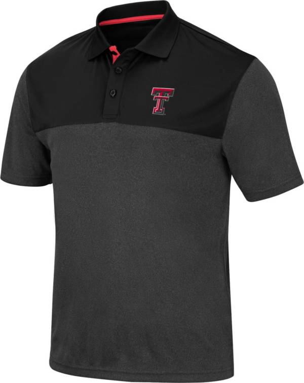 Colosseum Men's Texas Tech Red Raiders Links Black Polo product image