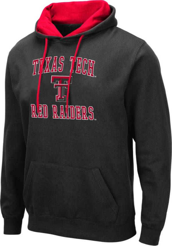 Colosseum Men's Texas Tech Red Raiders Pullover Black Hoodie product image