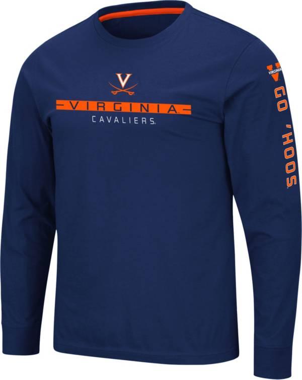 Colosseum Men's Virginia Cavaliers Blue Blitzgiving Long Sleeve T-Shirt product image