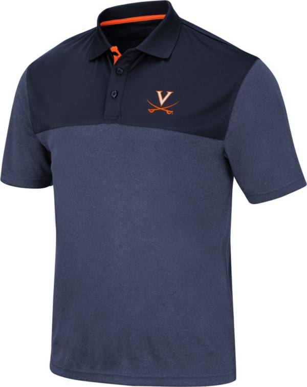 Colosseum Men's Virginia Cavaliers Blue Links Polo product image