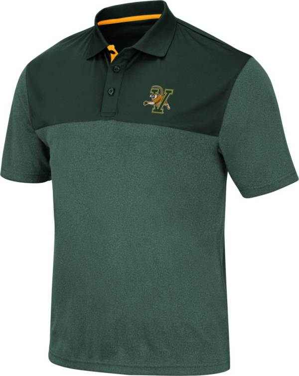 Colosseum Men's Vermont Catamounts Green Links Polo product image