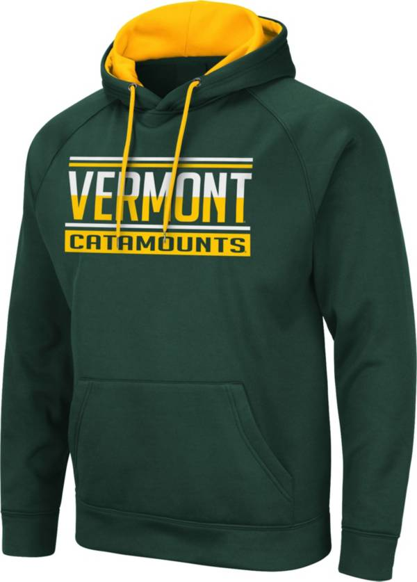 Colosseum Men's Vermont Catamounts Green Pullover Hoodie product image