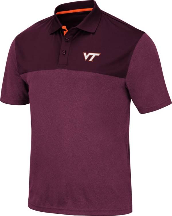 Colosseum Men's Virginia Tech Hokies Maroon Links Polo product image