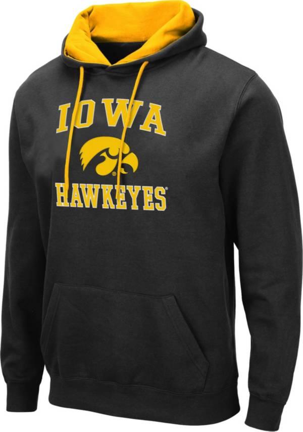 Colosseum Men's Iowa Hawkeyes Pullover Black Hoodie product image