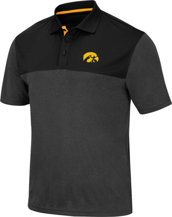 Colosseum Men's Iowa Hawkeyes Links Black Polo product image