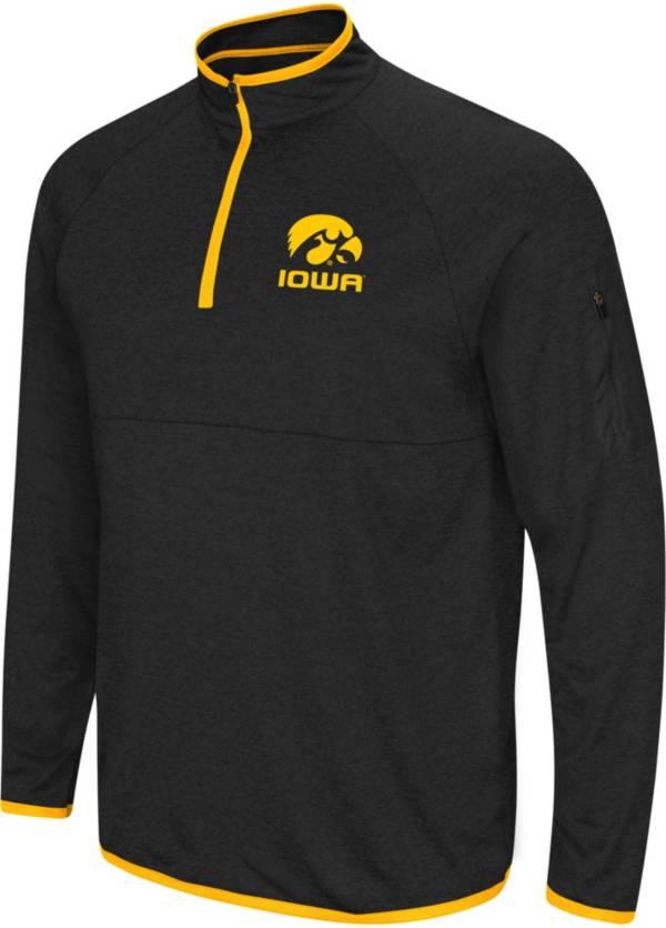 Colosseum Men's Iowa Hawkeyes Rival Quarter-Zip Black Shirt product image
