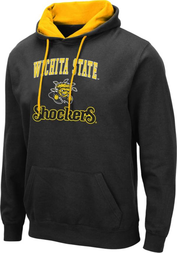 Colosseum Men's Wichita State Shockers Pullover Black Hoodie product image