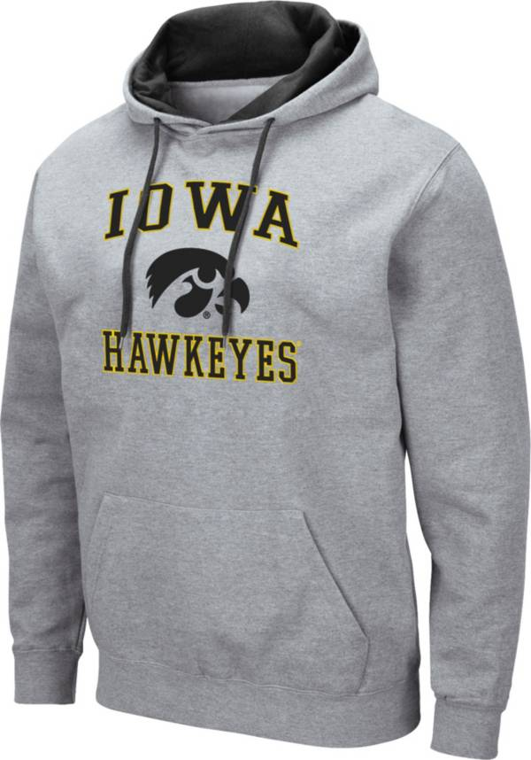 Colosseum Men's Iowa Hawkeyes Grey Pullover Hoodie product image