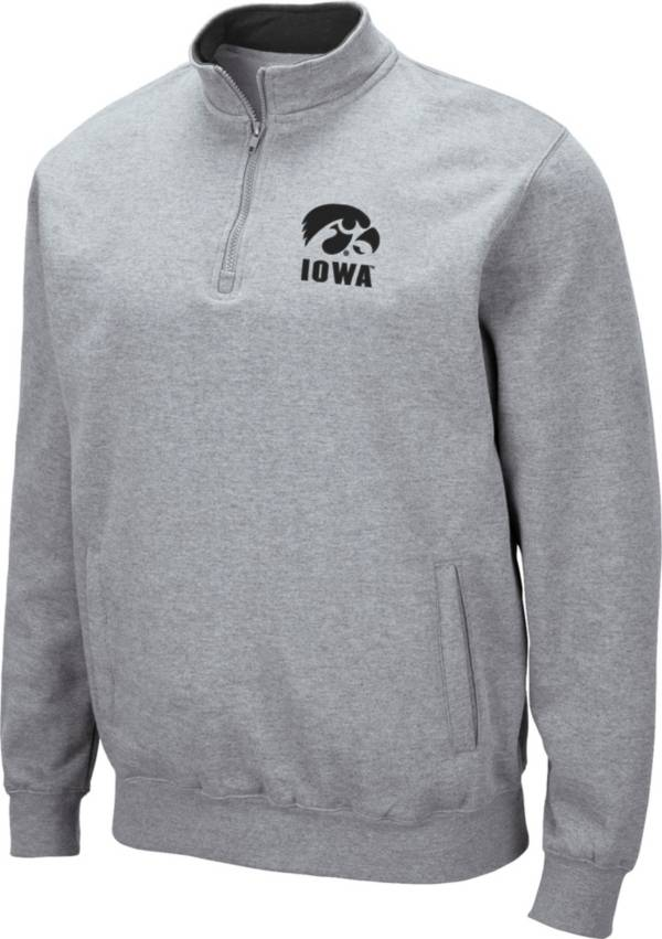 Colosseum Men's Iowa Hawkeyes Grey Fleece Quarter-Zip Shirt product image