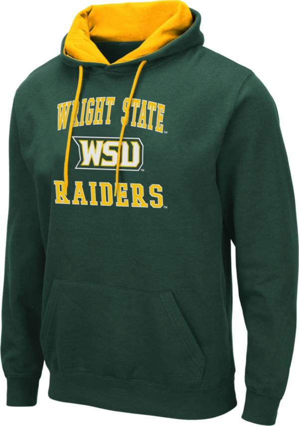 Colosseum Men's Wright State Raiders Green Pullover Hoodie product image